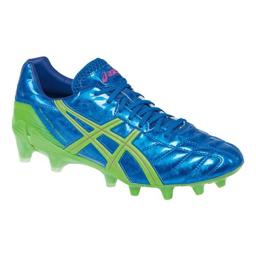 Mens ASICS GEL-Lethal Tigreor 7 SK Track and Field Shoe - Electric Blue/Lime 11.5