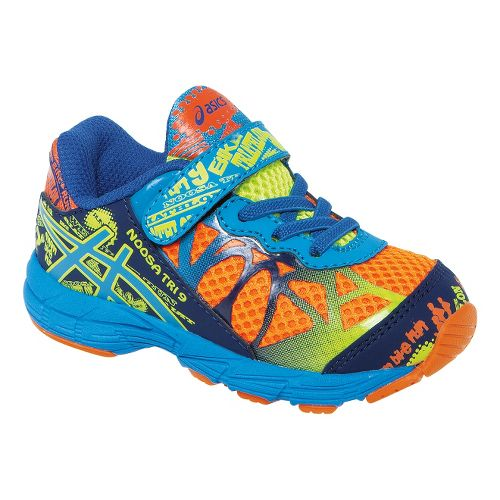 Kids ASICS Noosa Tri 9 TS Running Shoe - Flash Orange/Aqua 4
