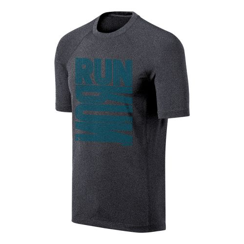 Mens ASICS Run Tech Tee Short Sleeve Technical Tops - Heather Grey S