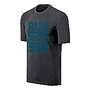 Mens ASICS Run Tech Tee Short Sleeve Technical Tops