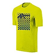 Mens ASICS Checkmate Tech Tee Short Sleeve Technical Tops