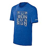 Mens ASICS Urban Run Tee Short Sleeve Technical Tops