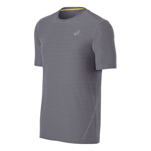 Mens ASICS All-Sport Stripe Short Sleeve Technical Tops - Frost S