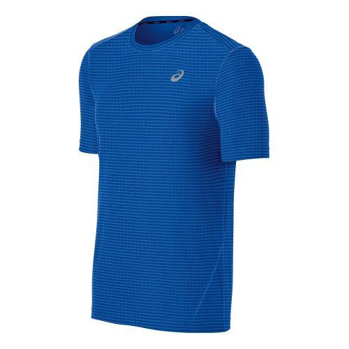 Mens ASICS All-Sport Stripe Short Sleeve Technical Tops - New Blue S