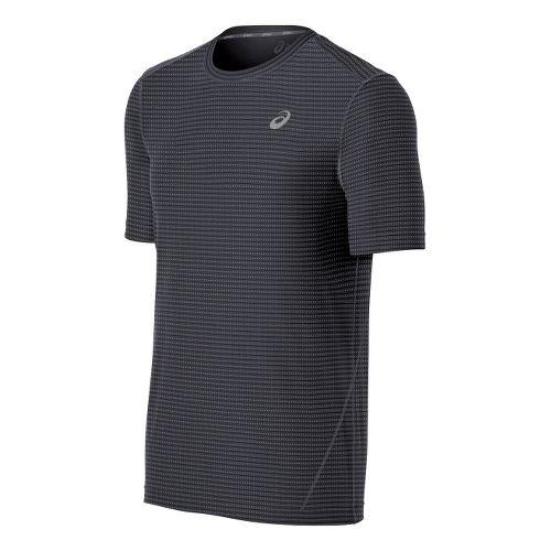 Mens ASICS All-Sport Stripe Short Sleeve Technical Tops - Steel L