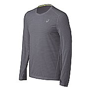 Mens ASICS All Sport Stripe Long Sleeve No Zip Technical Tops