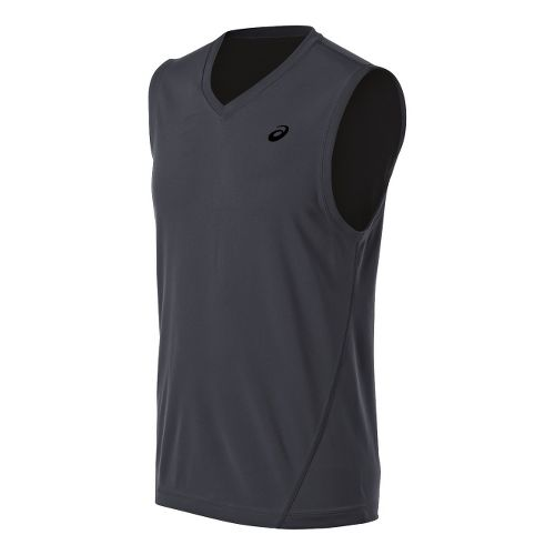 Mens ASICS Training Reversible Sleeveless Technical Tops - Steel/Black XXL