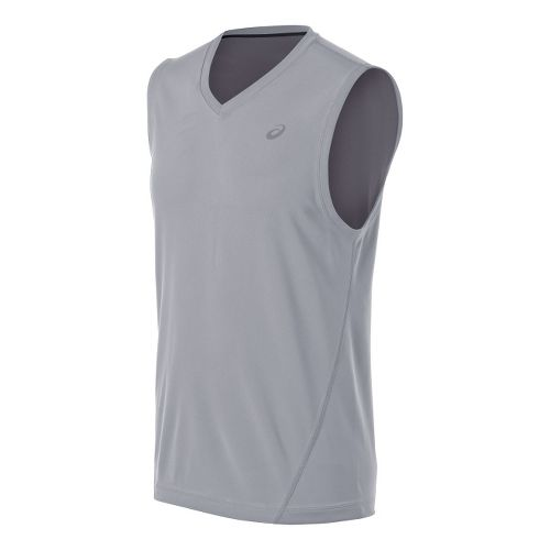 Mens ASICS Training Reversible Sleeveless Technical Tops - White/Frost L