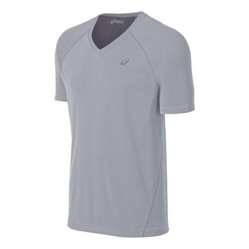 Mens ASICS Training Reversible Short Sleeve Technical Tops - White/Frost L