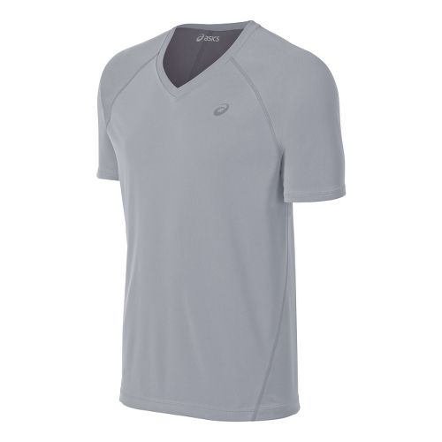 Mens ASICS Training Reversible Short Sleeve Technical Tops - White/Frost XL