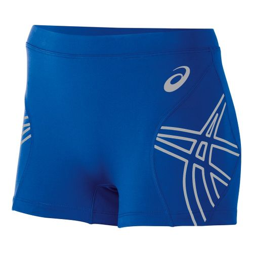 Womens ASICS Team Performance VB Fitted Shorts - Royal L