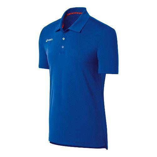 Mens ASICS Team Performance Tennis Polo Shirt Short Sleeve Technical Tops - Royal L
