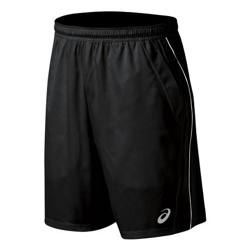 Mens ASICS Team Performance Tennis Unlined Shorts - Black/White S