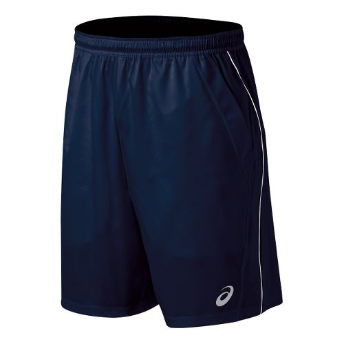 Mens ASICS Team Performance Tennis Unlined Shorts - Navy/White L