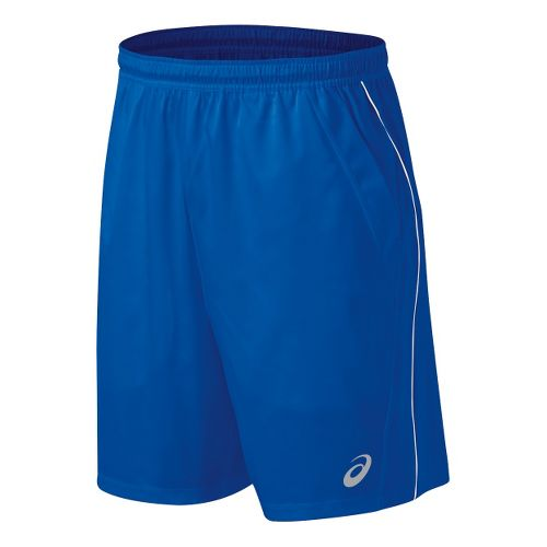 Mens ASICS Team Performance Tennis Unlined Shorts - Royal/White M