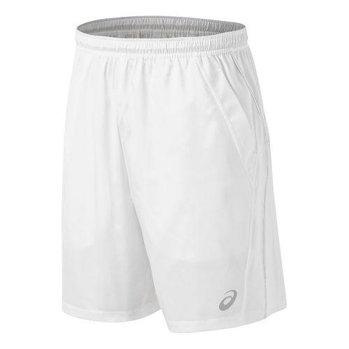 Mens ASICS Team Performance Tennis Unlined Shorts - White XL