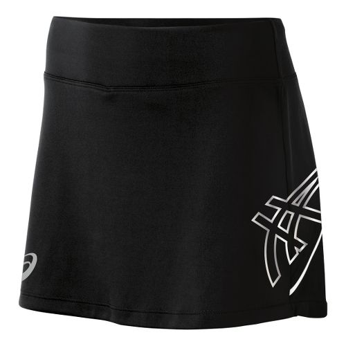 Womens ASICS Team Performance Tennis Skort Fitness Skirts - Black/White L