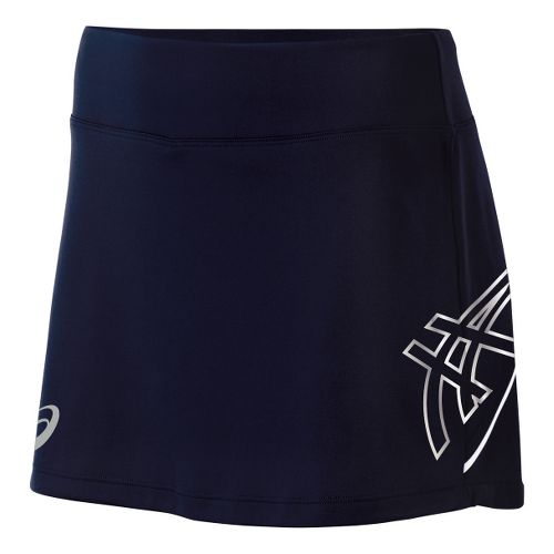 Womens ASICS Team Performance Tennis Skort Fitness Skirts - Navy/White L