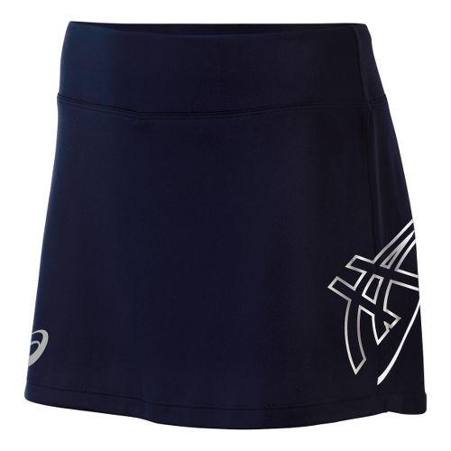 Womens ASICS Team Performance Tennis Skort Fitness Skirts - Navy/White XS