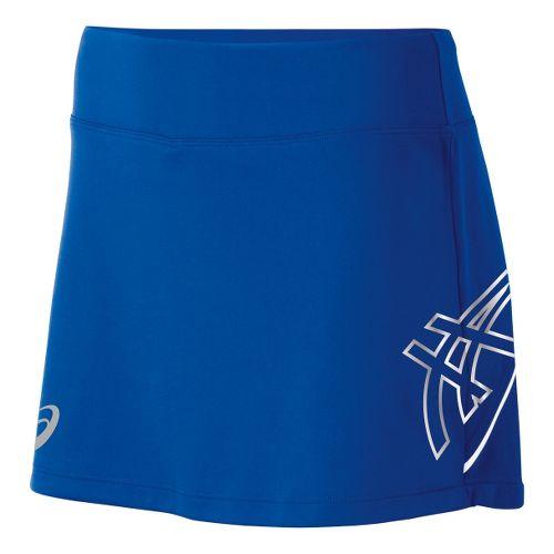 Womens ASICS Team Performance Tennis Skort Fitness Skirts - Royal/White S