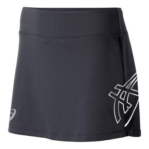 Womens ASICS Team Performance Tennis Skort Fitness Skirts - Steel/White XXL