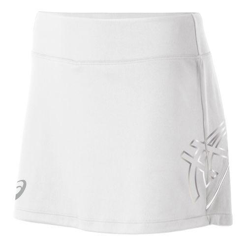 Womens ASICS Team Performance Tennis Skort Fitness Skirts - White XS