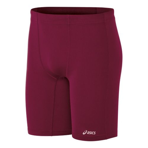 Mens ASICS Aptitude Field Fitted Shorts - Cardinal S