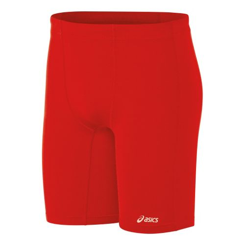 Mens ASICS Aptitude Field Fitted Shorts - Red XL