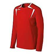 Mens ASICS Centerline Jersey Long Sleeve No Zip Technical Tops