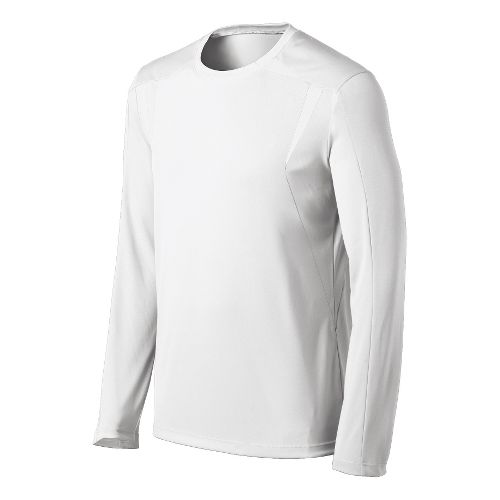 Mens ASICS Centerline Jersey Long Sleeve No Zip Technical Tops - White M