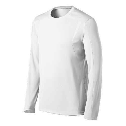 Mens ASICS Centerline Jersey Long Sleeve No Zip Technical Tops - White XXL