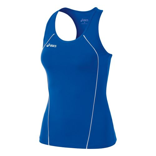 Womens ASICS Attacker Tanks Technical Tops - Royal/White XXL