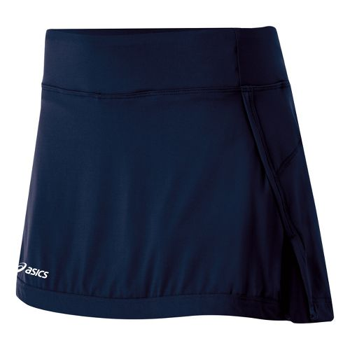 Womens ASICS Attacker Skort Fitness Skirts - Navy M