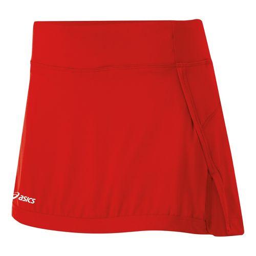 Womens ASICS Attacker Skort Fitness Skirts - Red L