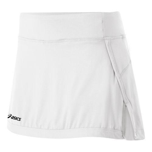 Womens ASICS Attacker Skort Fitness Skirts - White XXL