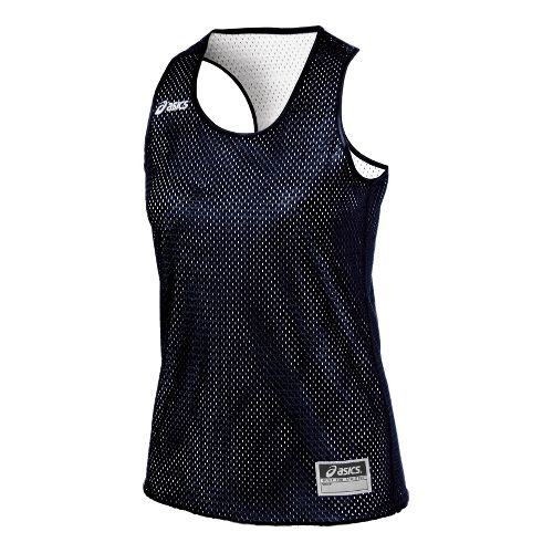 Womens ASICS Field Scrimmage Vest Tanks Technical Tops - Navy/White L/XL