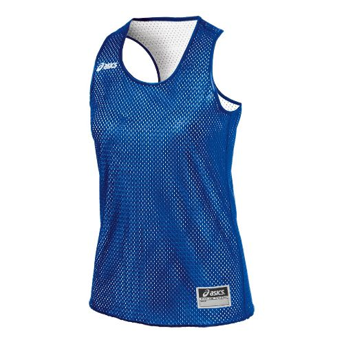 Womens ASICS Field Scrimmage Vest Tanks Technical Tops - Royal/White L/XL