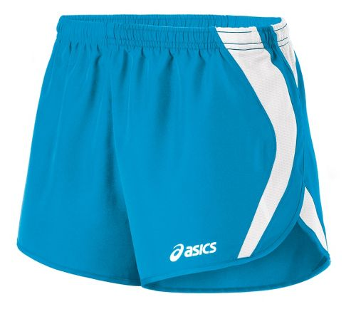 Womens ASICS Squad Split Lined Shorts - Atomic Blue/White XS