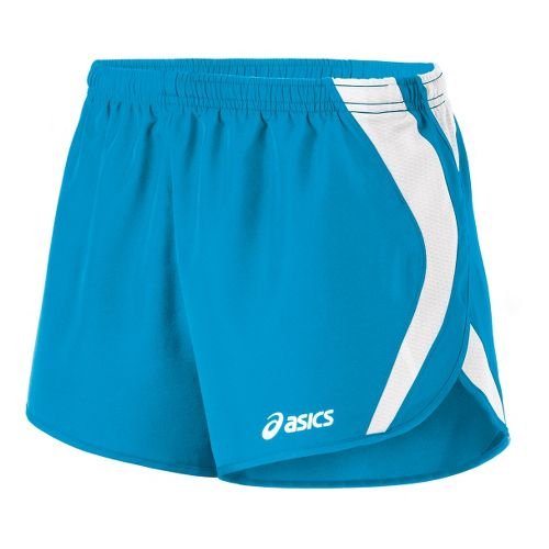 Womens ASICS Squad Split Lined Shorts - Atomic Blue/White M