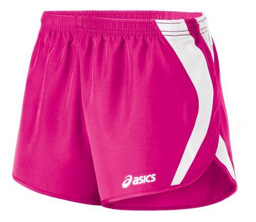 Womens ASICS Squad Split Lined Shorts - PinkGlo/White L