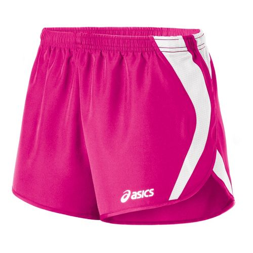 Womens ASICS Squad Split Lined Shorts - PinkGlo/White XL