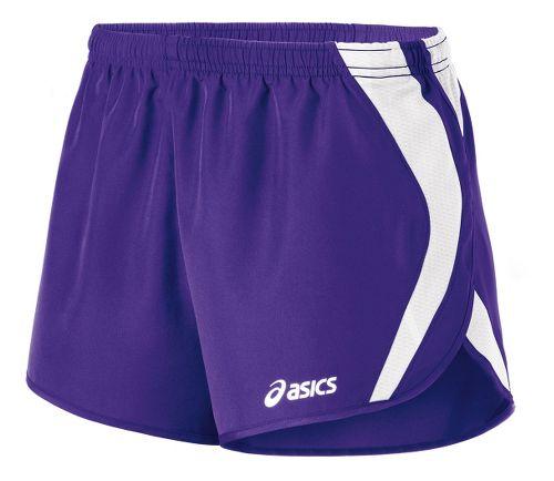 Womens ASICS Squad Split Lined Shorts - Purple/White XXL