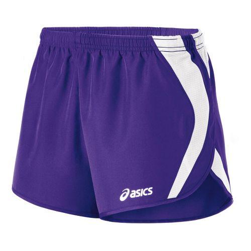 Womens ASICS Squad Split Lined Shorts - Purple/White L