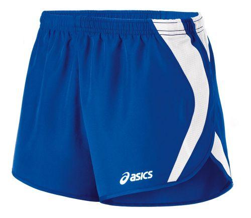 Womens ASICS Squad Split Lined Shorts - Royal/White L
