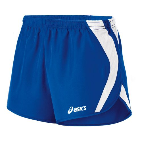 Womens ASICS Squad Split Lined Shorts - Royal/White M