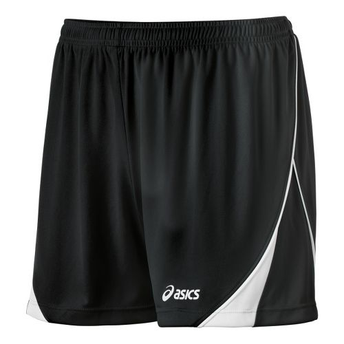 Womens ASICS TR Team Unlined Shorts - Black/White XL
