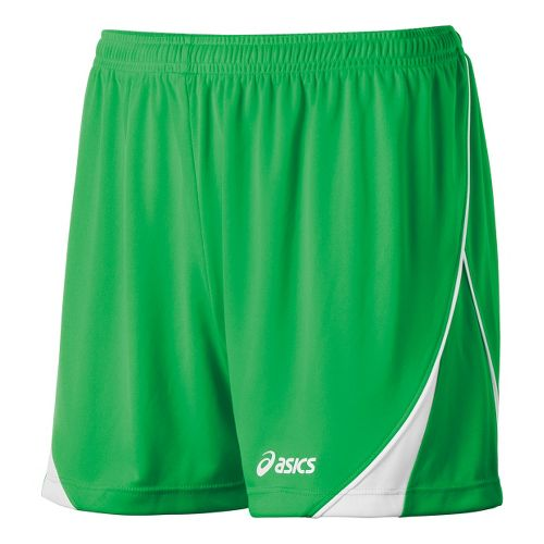 Womens ASICS TR Team Unlined Shorts - Lime/White XS