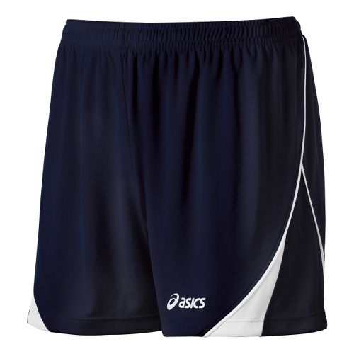 Womens ASICS TR Team Unlined Shorts - Navy/White M