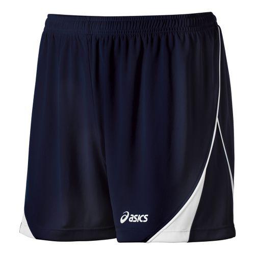 Womens ASICS TR Team Unlined Shorts - Navy/White S