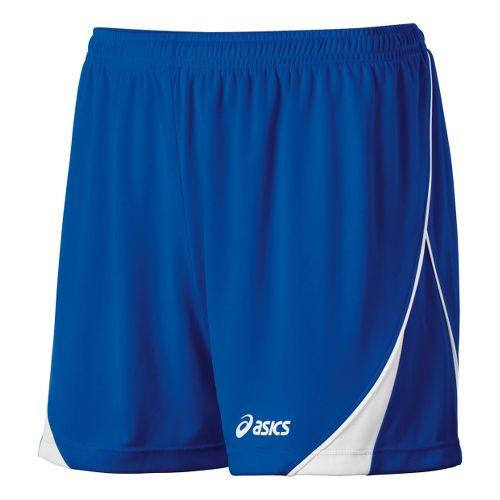 Womens ASICS TR Team Unlined Shorts - Royal/White S
